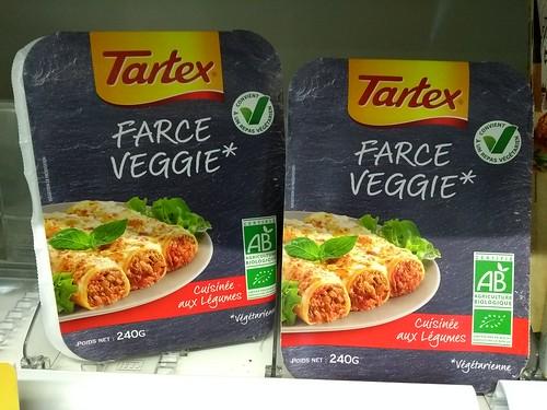 IMG_20180719_160802712 Tartex 'Farce Veggie' ready meals at La Superette Bio health food shop & butcher, Avenue Paul Henri Mouton, Carcassonne, Aude, Occitanie, France : 19 Jul 2018