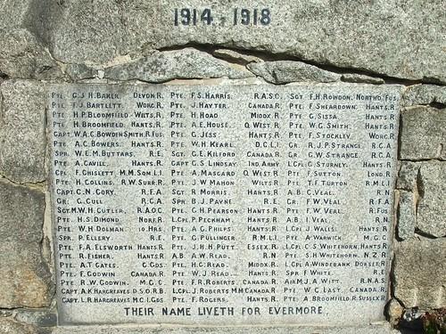 War Memorial, Lyndhurst, Hampshire