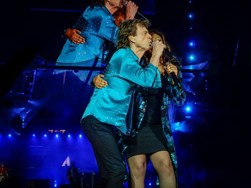 Mick Jagger and Sasha Allen