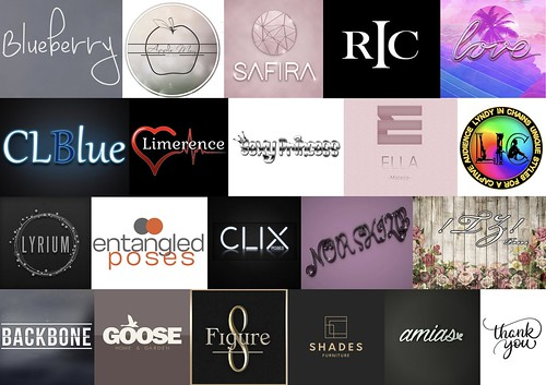 Thank you to al these 20 Amazing Brands!! ♥