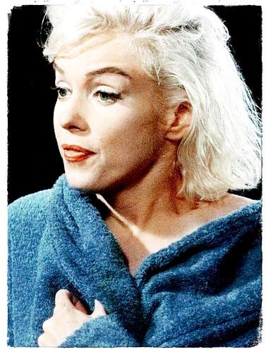Marilyn Monroe después del baño - Escena de la última película inacabada.