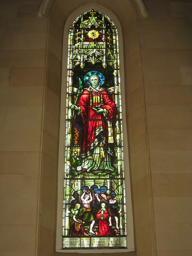 The Saint Stephen Stained Glass Window; St Mark the Evangelist Church of England - George Street, Fitzroy