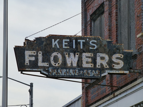 Bay City, MI Keit's Flowers ghost sign