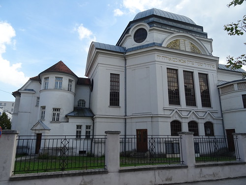 St. Pölten, Lower Austria (the art of historic religious buildings not far away from the old center of Pölten), Sinagoga, Synagogue, Synagoga, Synagoge (Doktor-Karl-Renner-Promenade)