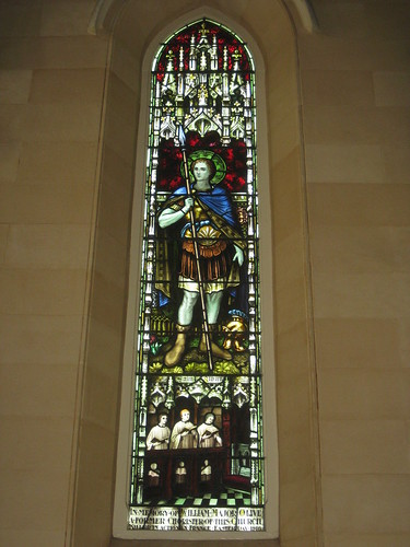 The William Major Olive Memorial Stained Glass Window of St Alban; St Mark the Evangelist Church of England - George Street, Fitzroy