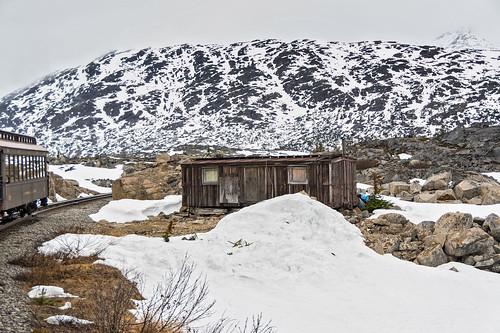 Old Hut on Skagway Railway Line, Alaska.