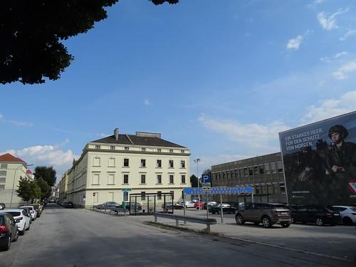 St. Pölten, Lower Austria (the art of public places not far away from the center of Pölten), Heßstraße (Militärkommando Niederösterreich - Stellungskommission)