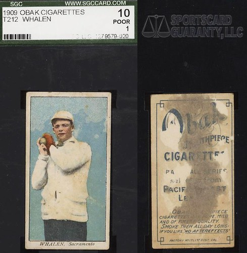 1909 T212-1 Obak Cigarettes Baseball Card (With-frame Back Design) - JIMMY / JAMES