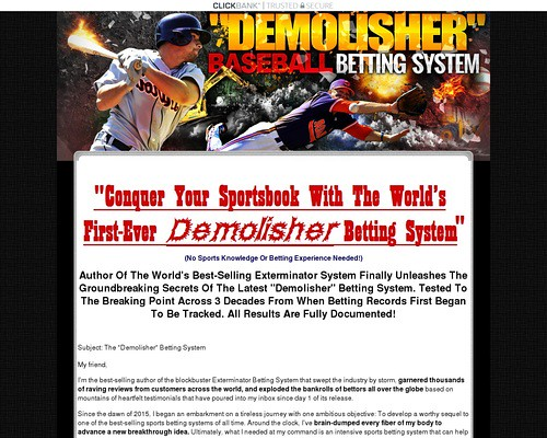 The Demolisher MLB Baseball Sports Betting System
