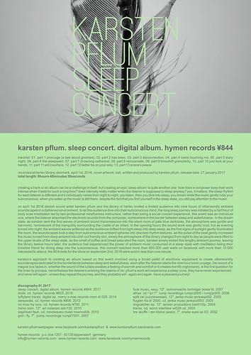 ¥844. karsten pflum. sleep concert