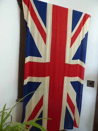 Gatehouse to Charlecote Park - exhibition rooms - Union Jack