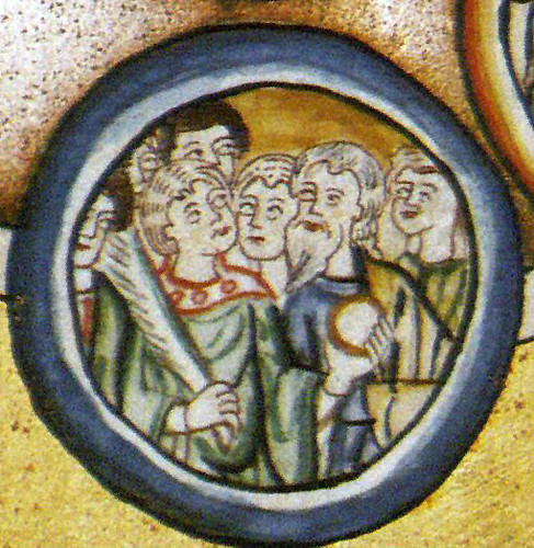 Scivias Rupertsberg Plate 35 fol-229r detail, Symphonia in Heaven, Choir of Martyrs 17bs