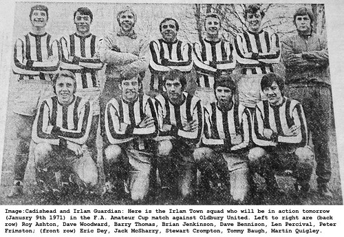 Irlam Town F.A. Amateur Cup 1971