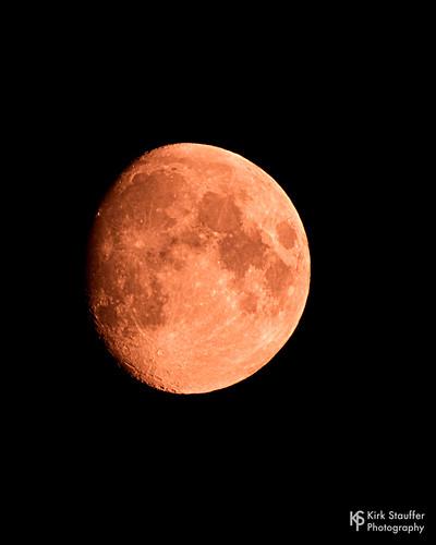 Orange Moon in Seattle