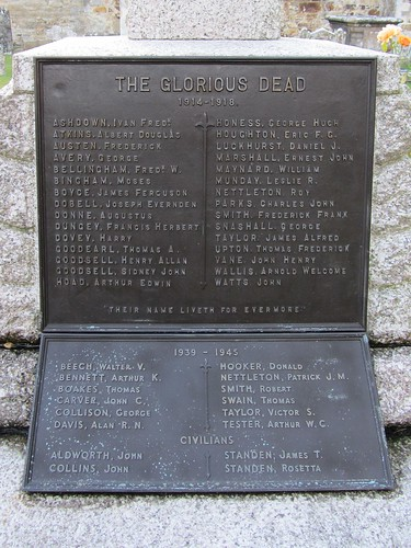 War Memorial, All Saints' Church, Biddenden, Kent
