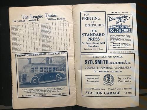 1937-38 Blackburn Rovers 0 v 0 Bradford Park Avenue, Blackburn Rovers 2 v 2 Fulham