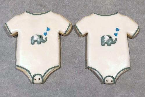 Baby Onsies cookies