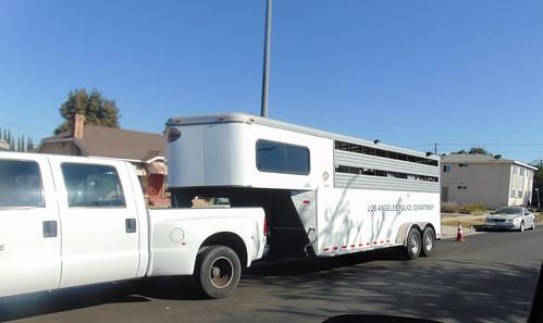 L.A.P.D. Mounted patrol trailer