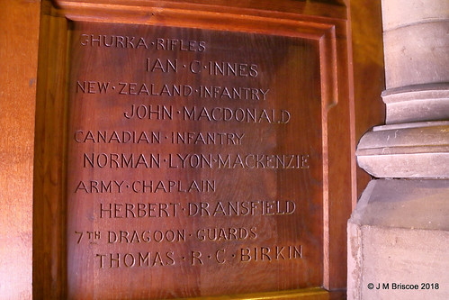 St. Andrew's Cathedral (Episcopal), Ness Walk, Inverness - WWI War Memorial