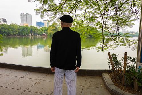 Beret by the lake, Hanoi, Vietnam
