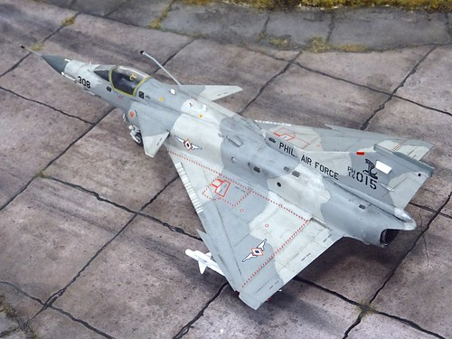 "1:72 IAI ""Kfir"" C.10P, ""308"", BuNo (20)14-(0)015"", of the Hukbong Himpapawid ng Pilipinas (Philippine Air Force/PAF) 6th Tactical Fighter Squadron ""Cobras"", 5th Fighter Wing; Basa Air Base, 2017 (Whif/modified Italeri kit)"