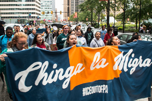 Chinga La Migra Philly March
