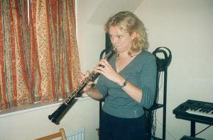 Caron Hansford - recording 'Eve' (2001)