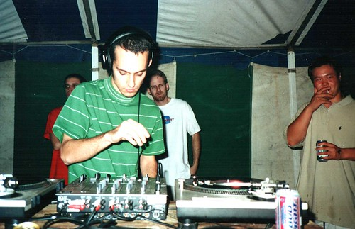 Me DJing at some tent rave near Madison, WI