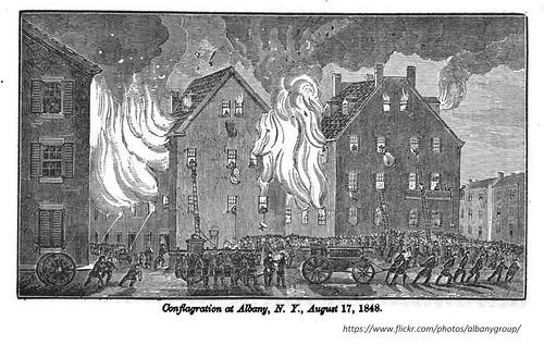 Great Fire of Albany NY  1848 1840s