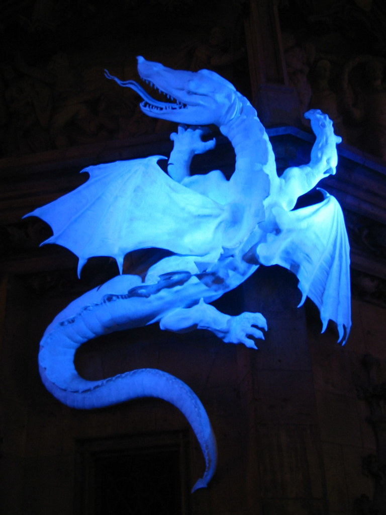 White dragon on the Munich Rathaus (Town Hall)
