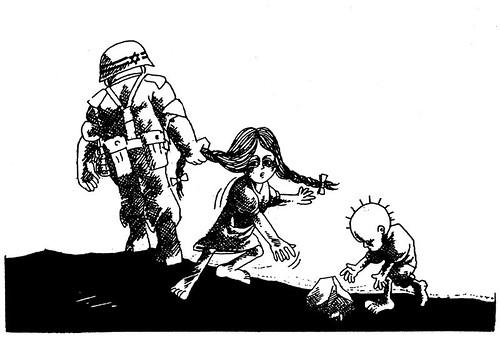 Visual Intifada Mostra dello storico disegnatore palestinese Naji Al Ali