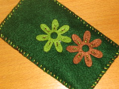 Ref.187c Bolsa para telemóvel em verde