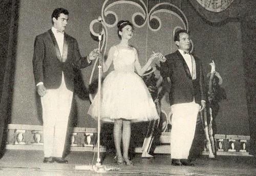 1962 Gigliola durante una rivista dell'ENAL