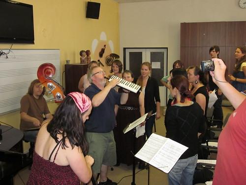 Skip leading the Jazz Singers