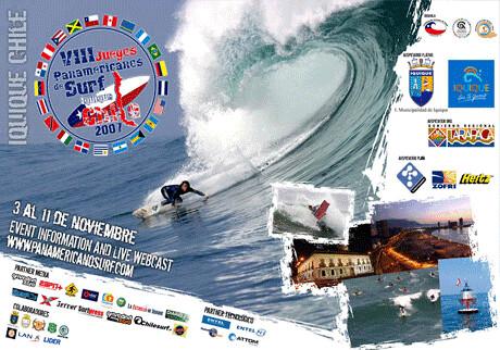 Los VIII juergos panamericanos de surf 2007 iquique CHile