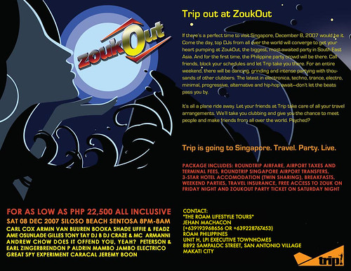 ZOUKOUT travel package (Roam Lifestyle Tours), LIMITED SLOTS (offer until Nov 10)