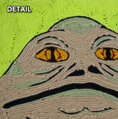 Sappy Moose Tree; Jabba Yarn Art DETAIL