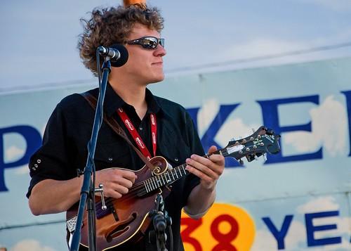 James Kee, mandolin, Kati Penn & New Town ~ Walnut Valley Festival '09