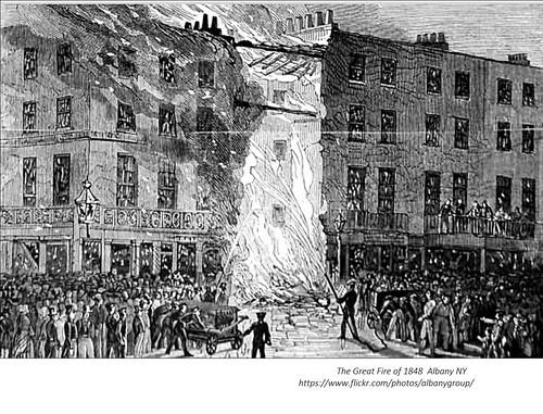 Great Fire Albany NY 1848 1840s