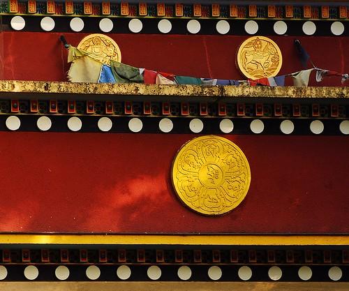 10 - 4 août 2009 Paris Bois de Vincennes Temple bouddhiste tibétain de Kagyu-Dzong.