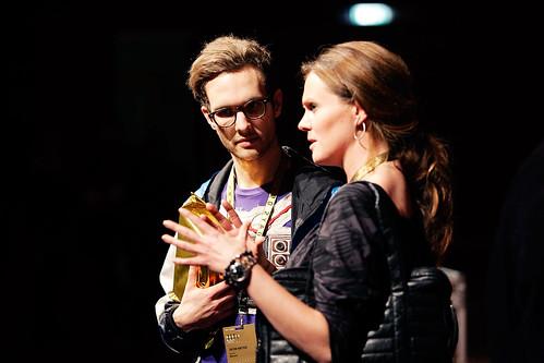 Winner of best comment @ wrap up Jacob Bøtter talking to Rebecca Pruzan