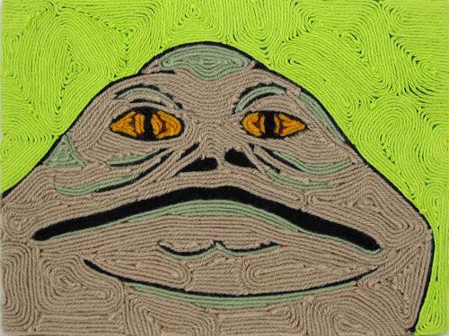 Sappy Moose Tree; Jabba Yarn Art
