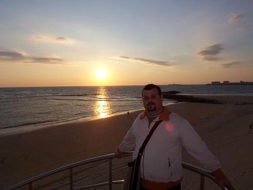 Sergio en la playa de Santa María del Mar,Cádiz