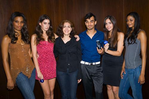 Opera Swimwear models, Sueli Costa, Sanjaya Malakar and Gabriela Pires