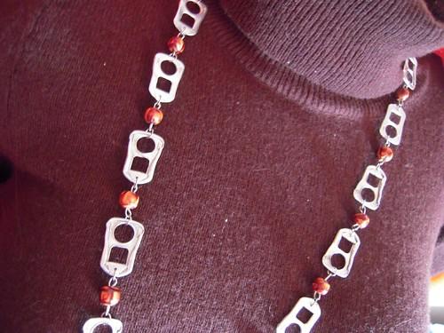 Pop tab necklace (by Orquidea)