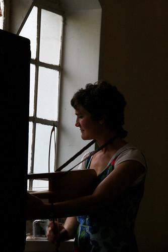 Cass Meurig in the Methodist Church in Leigh on Sea