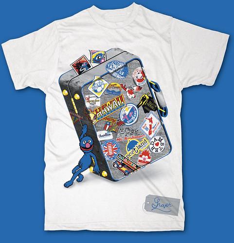 Grover T-shirt designed by Threadless