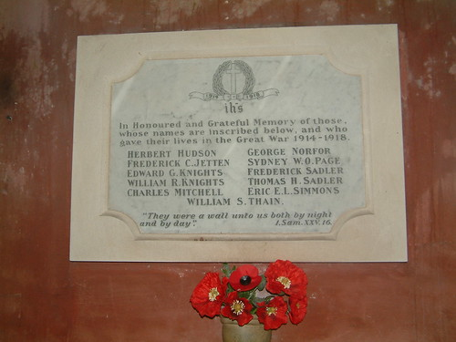 West Somerton Great War Church Memorial