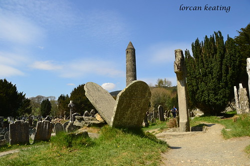 Round tower, Glenadlough, County Wicklow, Ireland