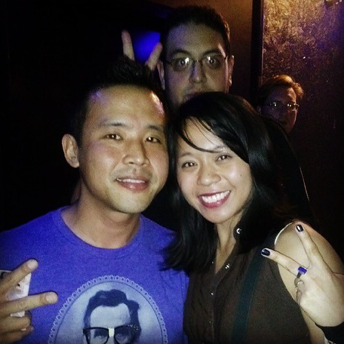 Me n @offwhyte and I'm so excited for the @qwelmaker photobomb LOL